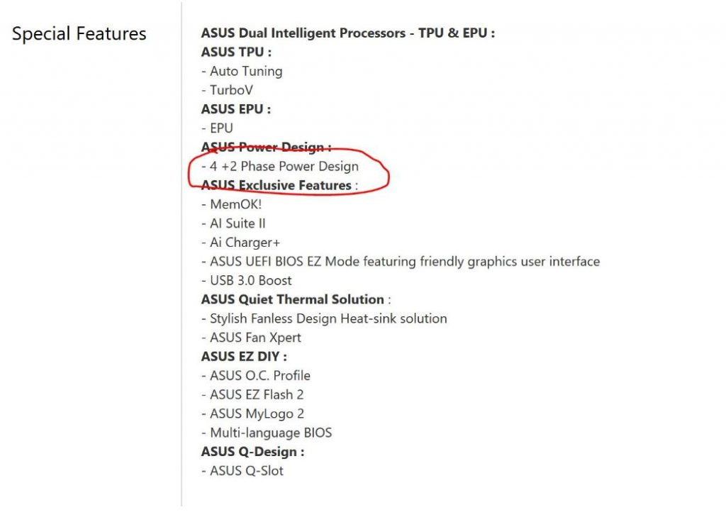 Asus phase power small