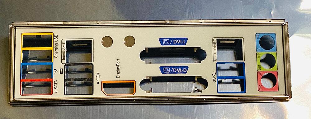 Input output shield