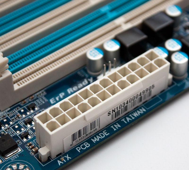 Motherboard power socket