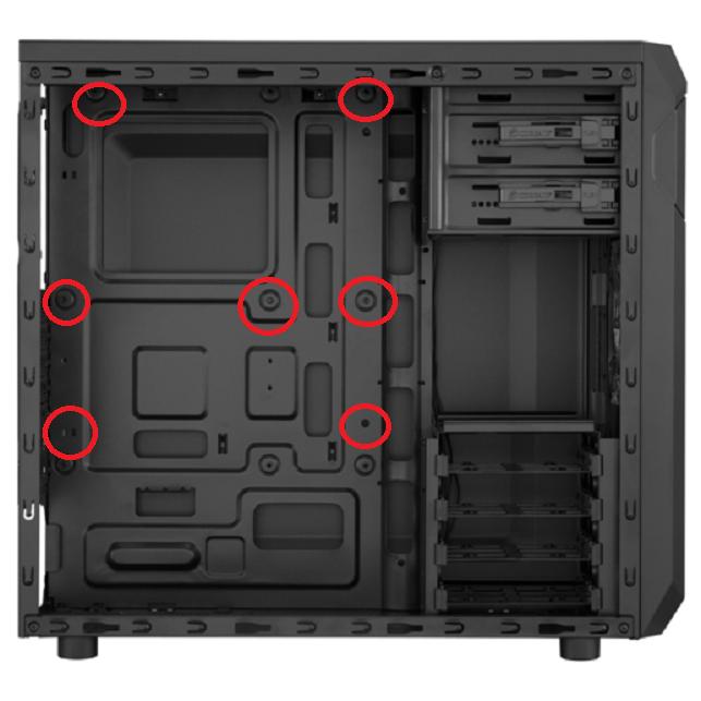 case motherboard standoffs