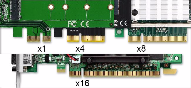 Can PCIe x1 fit in x4