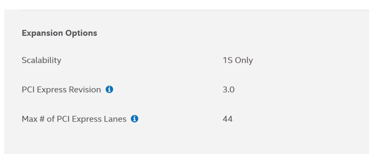 PCIe core extreme lanes