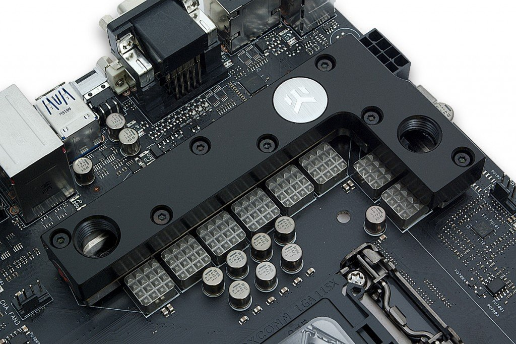 A VRM on a Motherboard with Liquid Cooling