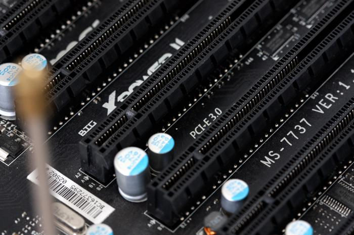 PCIe Slots on a Motherboard.