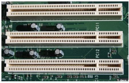 PCI Slots on a motherboard