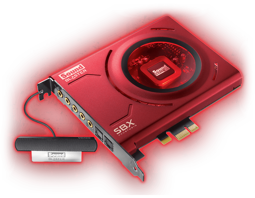 PCIe X1 Sound card from Creative.