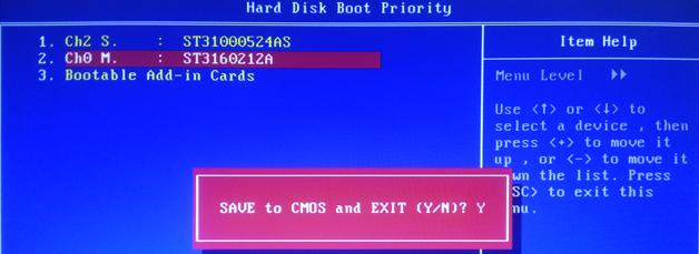 Boot Priority change