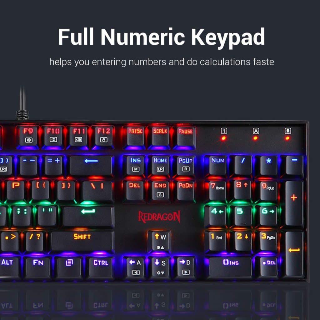 RGB lighting keyboard