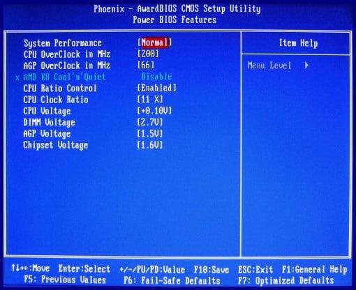 AMD Athlon BIOS