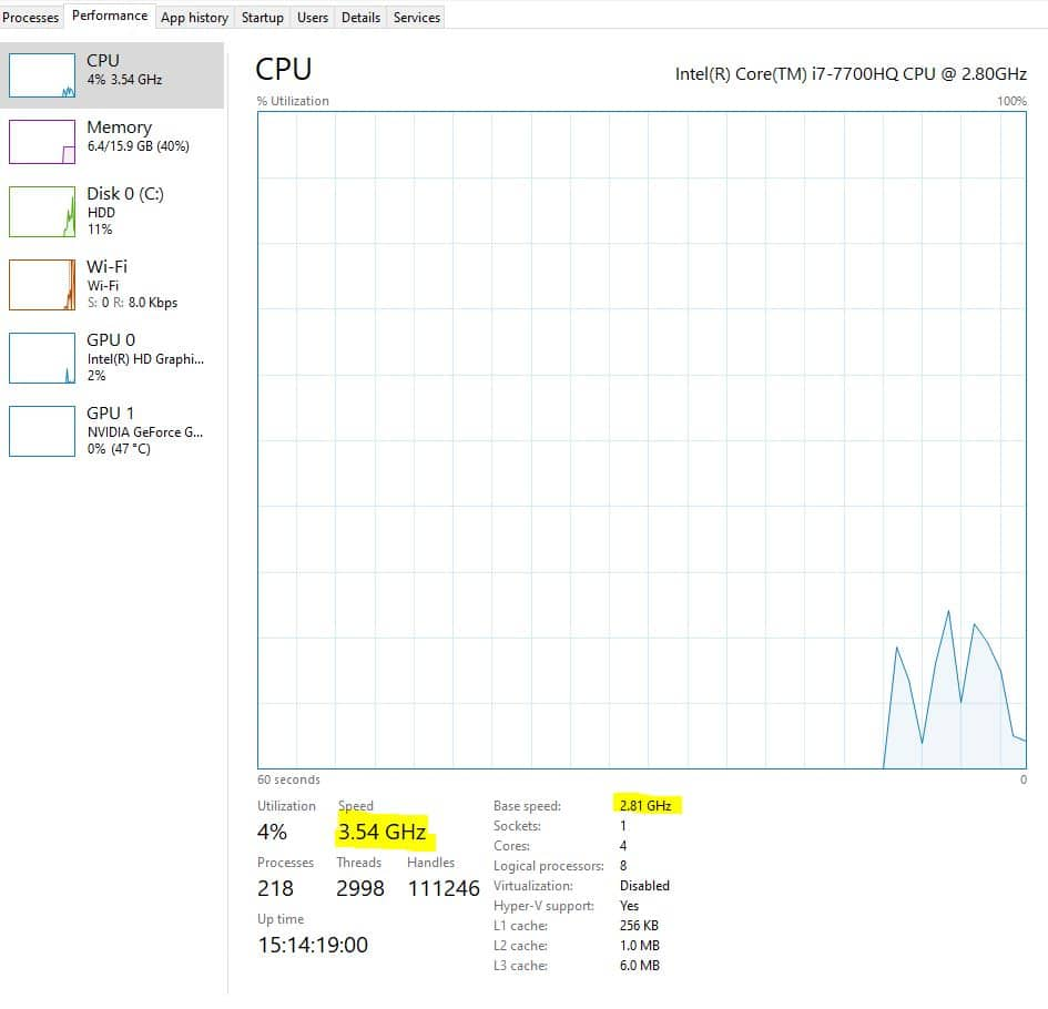 how to check if cpu is overclocked