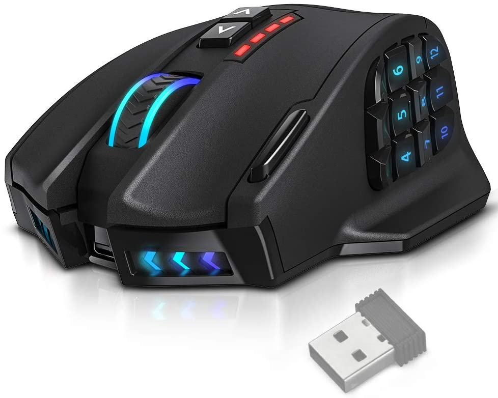 wireless mouse with programmable buttons