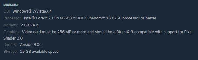 Mini CPU requirements for CSGO